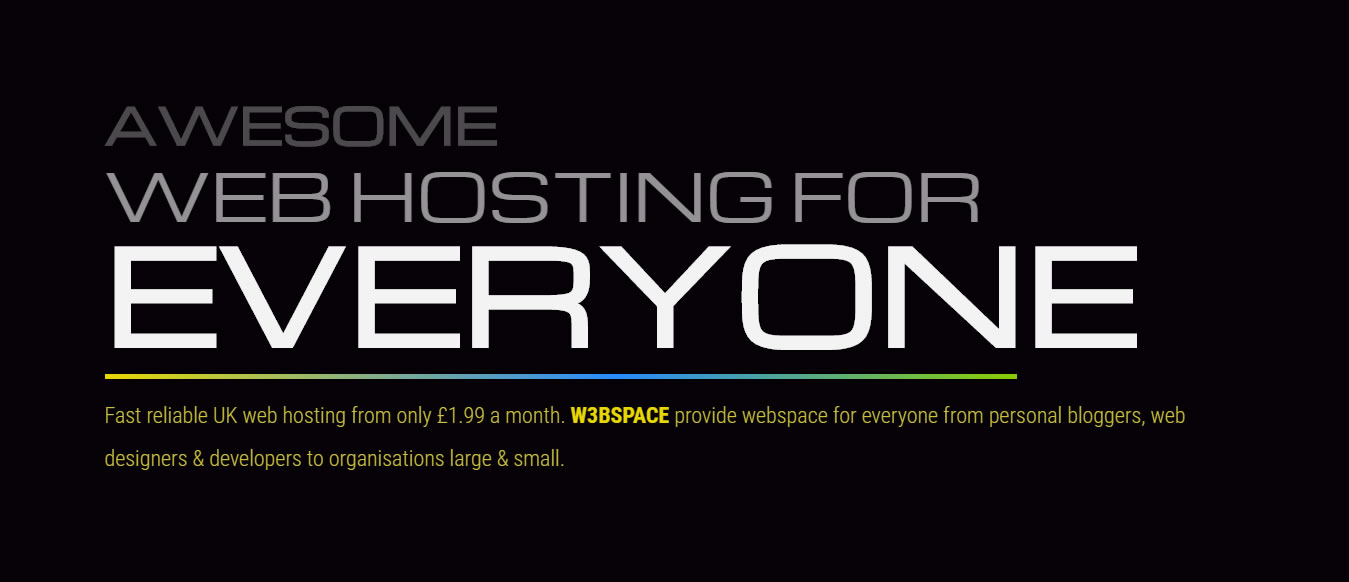 WEBSPACE banner Screenshot
