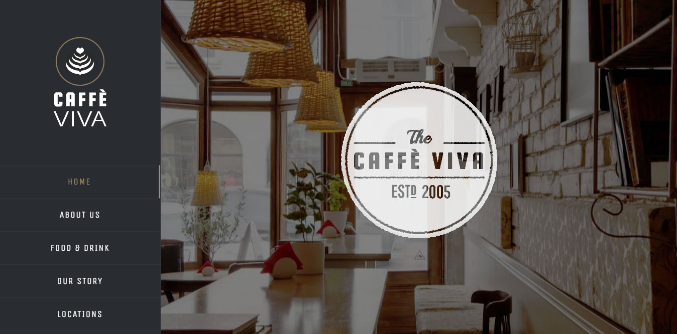 Caffe Viva homepage screenshot